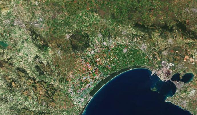 Il golfo di Taranto osservato dalla missione Sentinel 2