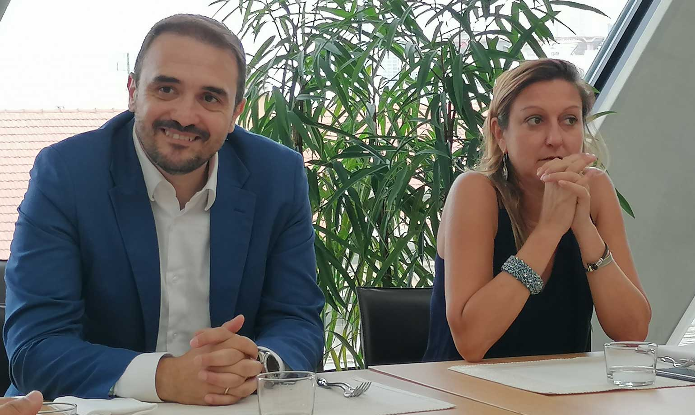 Fabio Santini, executive director partner channel & small, medium, corporate markets di Microsoft & Francesca Moriani, amministratore delegato di Var Group