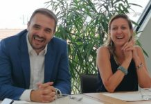 Fabio Santini, executive director partner channel & small, medium, corporate markets di Microsoft & Francesca Moriani, amministratore delegato di Var Group