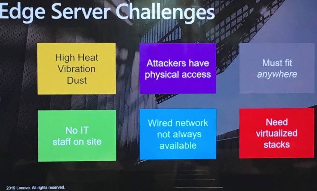 Edge Server, le sfide