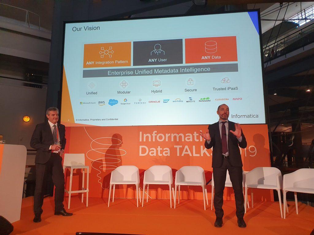 Nicola Sandoli, cloud solution specialist e Enrico Galimberti presales manager Informatica
