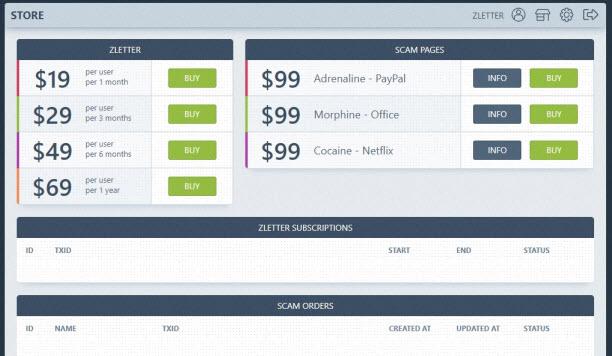 Tariffario del phishing as a service