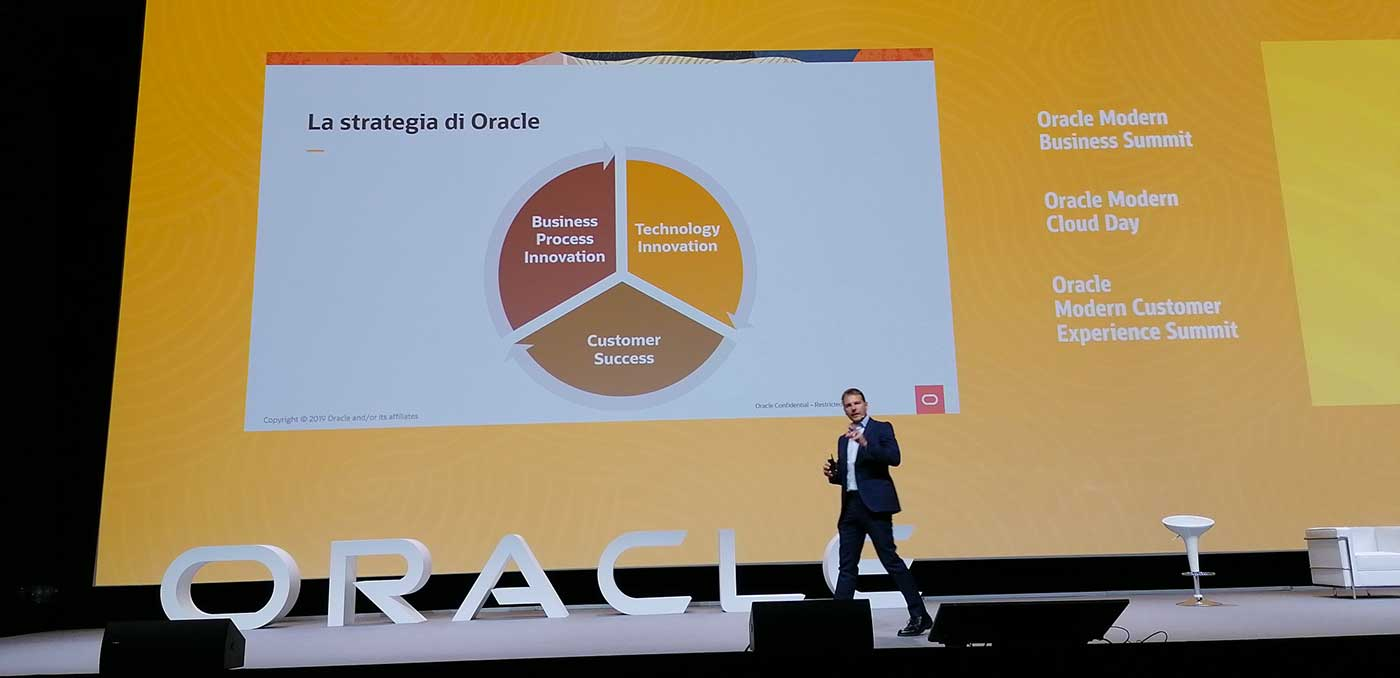 Fabio Spoletini, country manager di Oracle Italia - Oracle Modern Cloud Day - Oracle Modern Business Summit - Oracle Modern Customer Experience Summit