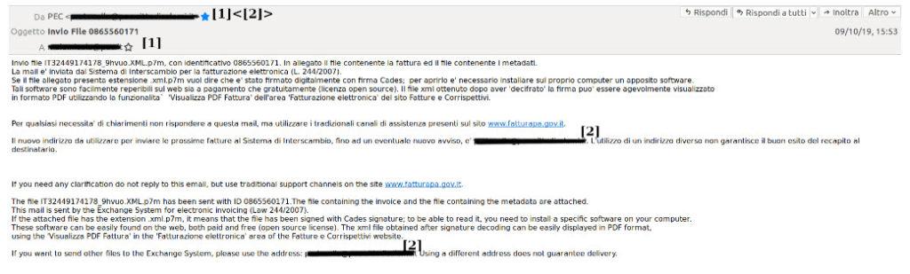 Screenshot del tentativo di Phishing (Fonte Cert-PA)