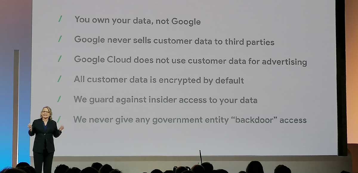 Google Cloud Next 2019 UK - Suzanne Frey, VP, Engineering, Security and Trust Google Cloud