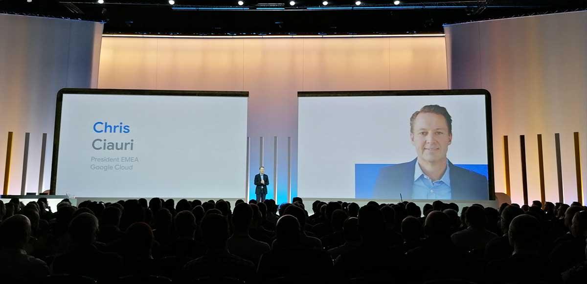 Google Cloud Next 2019 UK - Chris Ciauri, president Emea Google Cloud