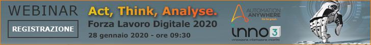 Webinar - Act, Think, Analyse. Forza Lavoro Digitale 2020 - 28 gennaio 2020