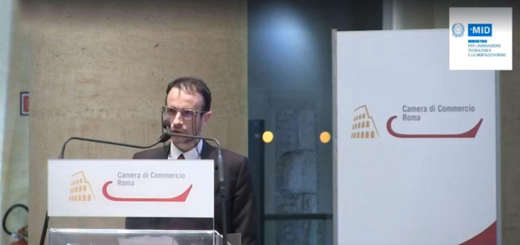 Luca Attias, Commissario per l'attuazione dell'Agenda Digitale, durante la presentazione del Piano nazionale Innovazione
