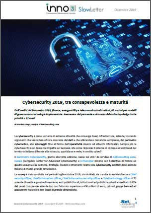 Speciale Cybersecurity 2019 - SlowLetter Dicembre 2019