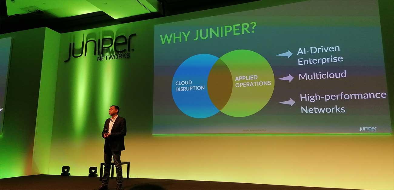 Manoj Leelanivas, executive VP and chief product officer di Juniper Networks - Juniper NXTWORK Emea 2019 - Londra, 3-4 dicembre
