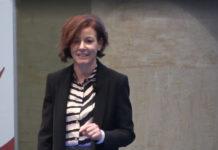 Paola Pisano, Ministro per l'innovazione tecnologica e la digitalizzazione, durante la presentazione del Piano nazionale Innovazione