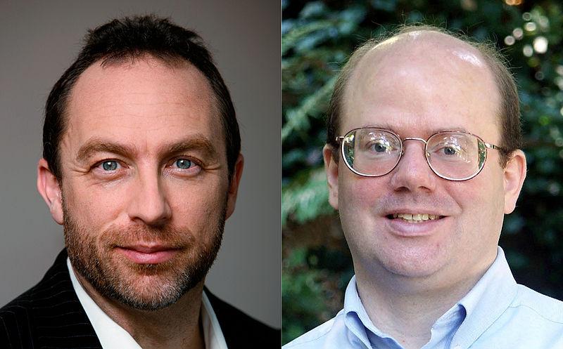 Jimmy Wales e Larry Sanger - I fondatori di Wikipedia