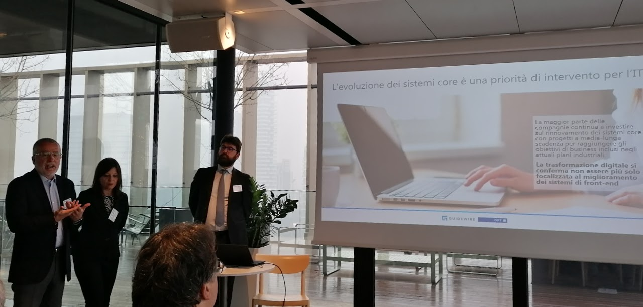 """Evento""""Tra le Nuvole"""" - Presentazione studio """"L'orientamento al cloud delle Compagnie di Assicurazione"""" di GFT, Guidewire eNetConsulting cube"""