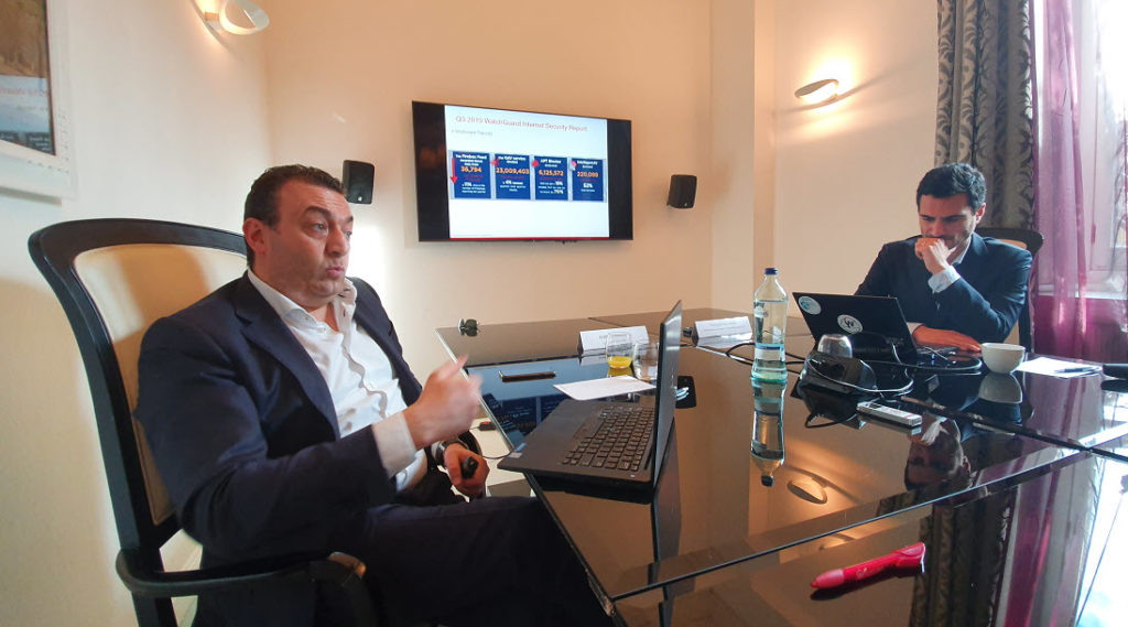Ivan De Tomasi, country manager per Italia e Malta di Watchguard e Francesco Pastoressa Marketing manager Seur, Nordics