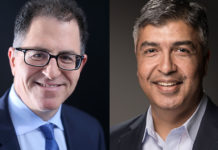Rsa - Michael Dell, fondatore e Ceo di Dell e Rohit Ghai, presidente di Rsa Security