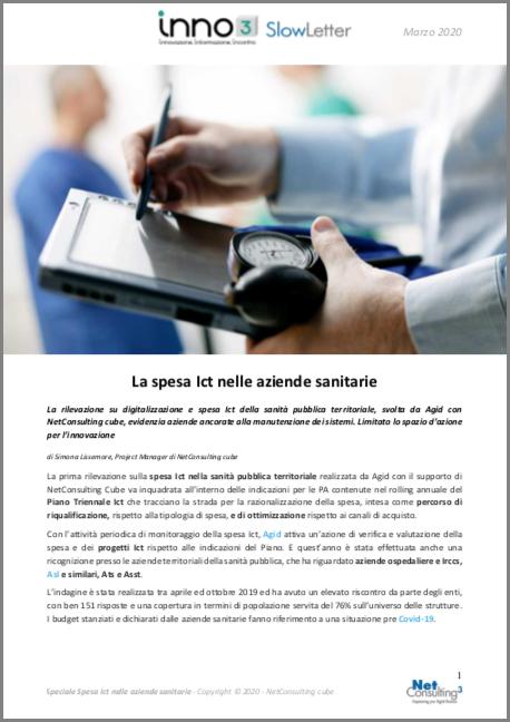Speciale Spesa Ict nelle aziende sanitarie - SlowLetter Marzo 2020