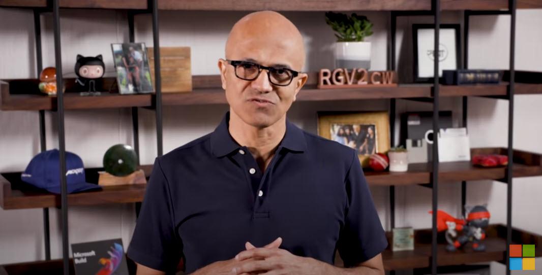 Satya Nadella, Ceo di Microsoft, Build 2020
