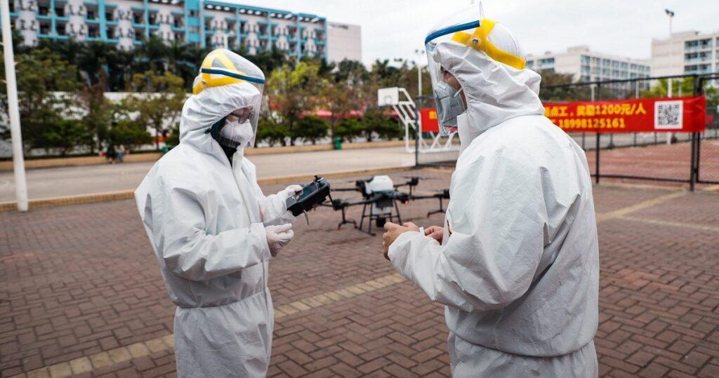 L'utilizzo dei droni Dji per la sanificazione