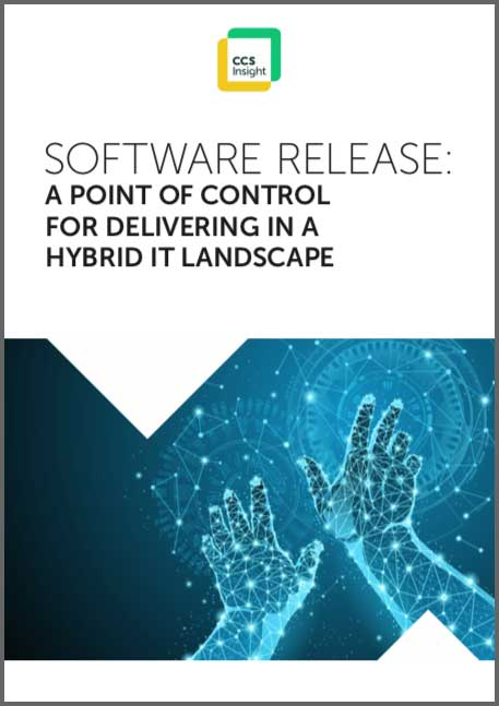Software Release, a point of control for delivering in a hybrid IT landscape