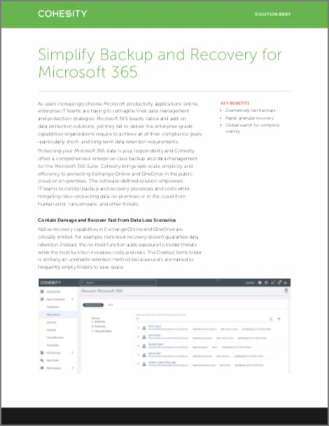 Simplify Backup and Recovery for Microsoft 365