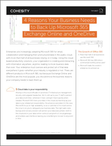 4 Reasons Your Business Needs to Back Up Microsoft 365