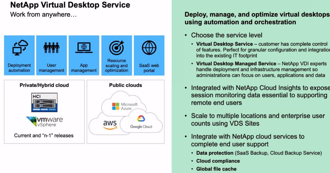 Netapp Virtual Desktop Service