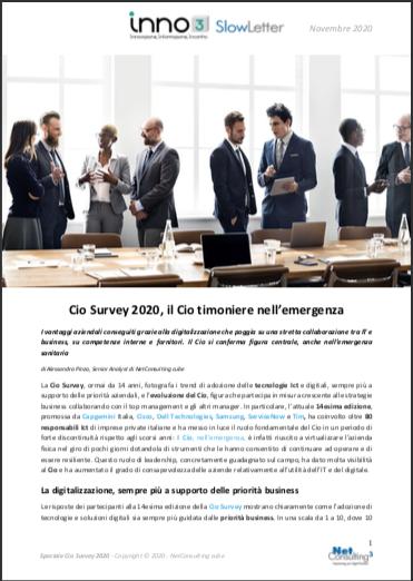 Speciale Cio Survey 2020 - SlowLetter Novembre 2020