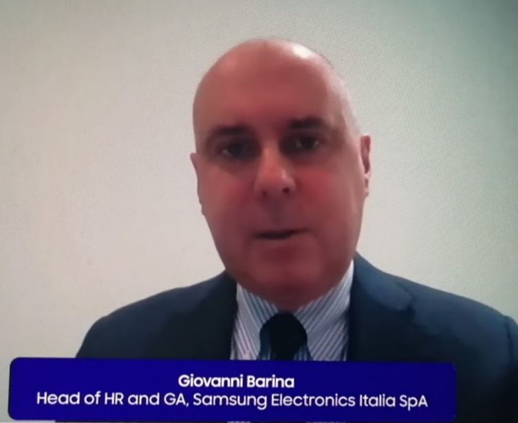 Giovanni Barina, head of team of human resources and general affairs di Samsung Electronics Italia