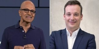 Satya Nadella Microsoft e Christian Klein Sap