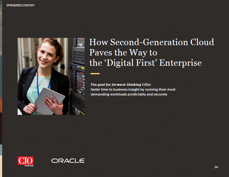How Second-Generation Cloud Paves the Way to the Digital First Enterprise