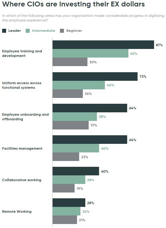 Come i Cio investono per digitalizzare l'esperienza dei dipendenti