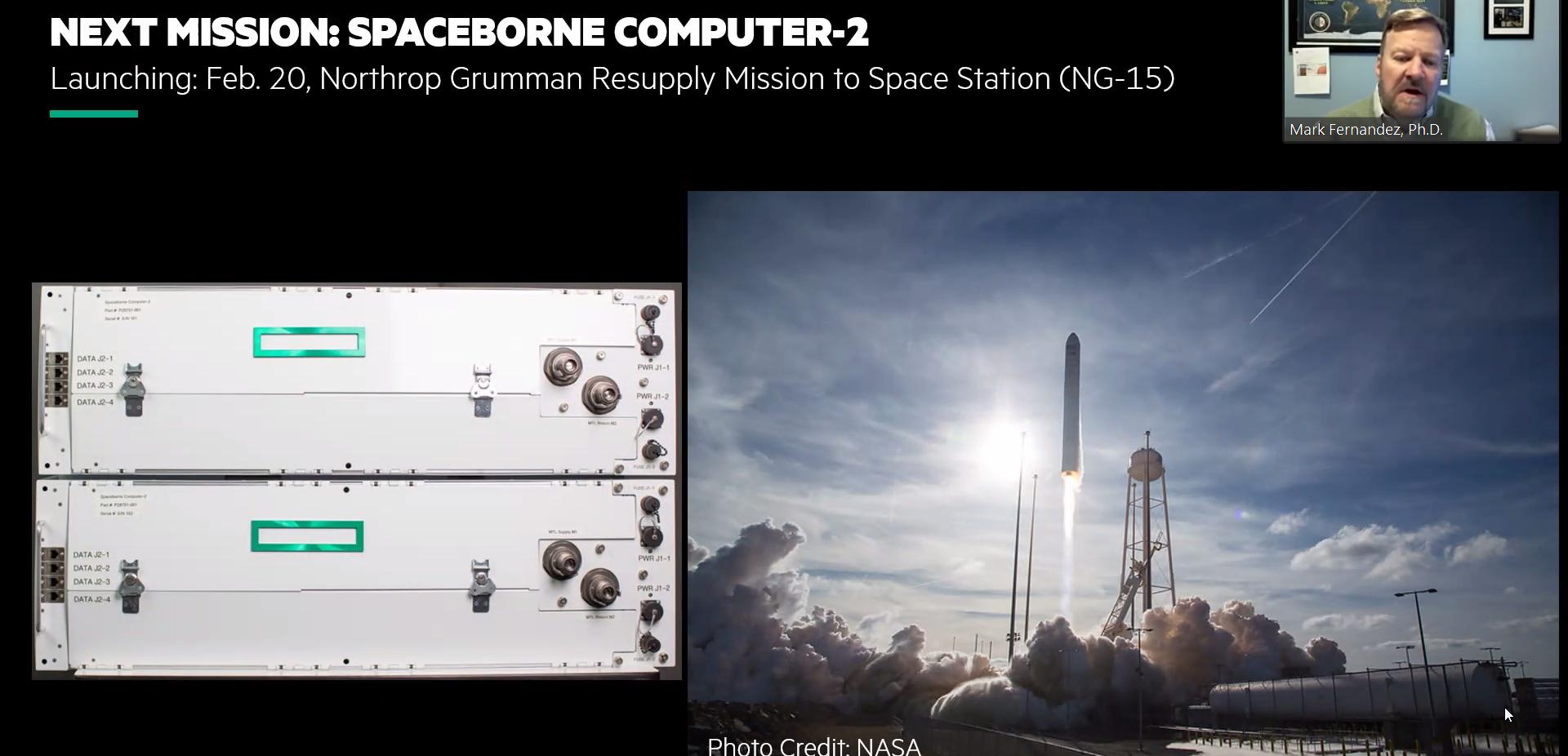 Prossima missione - Hpe Spaceborne Computer-2