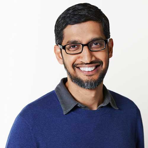 Sundar Pichai, Ceo di Google e Alphabet