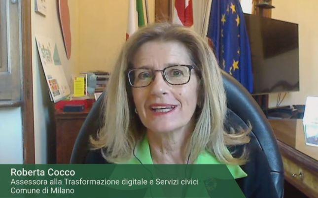 Roberta Cocco,assessora alla Trasformazione digitale e ai Servici civici del Comune di Milano