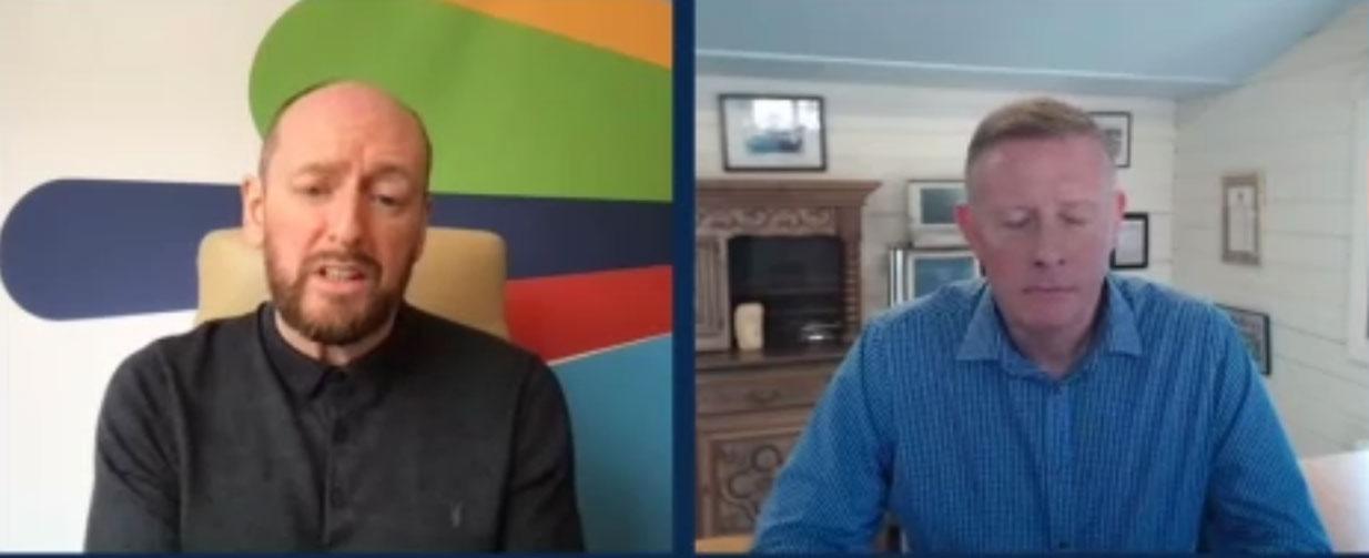 Gordon Thomson, VP for Technology Acceleration di Cisco e Adam MacHale, VP for Service Provider di Cisco