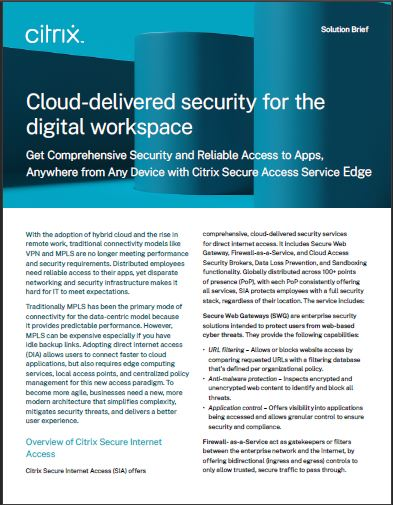 Cloud-delivered security for the digital workspace