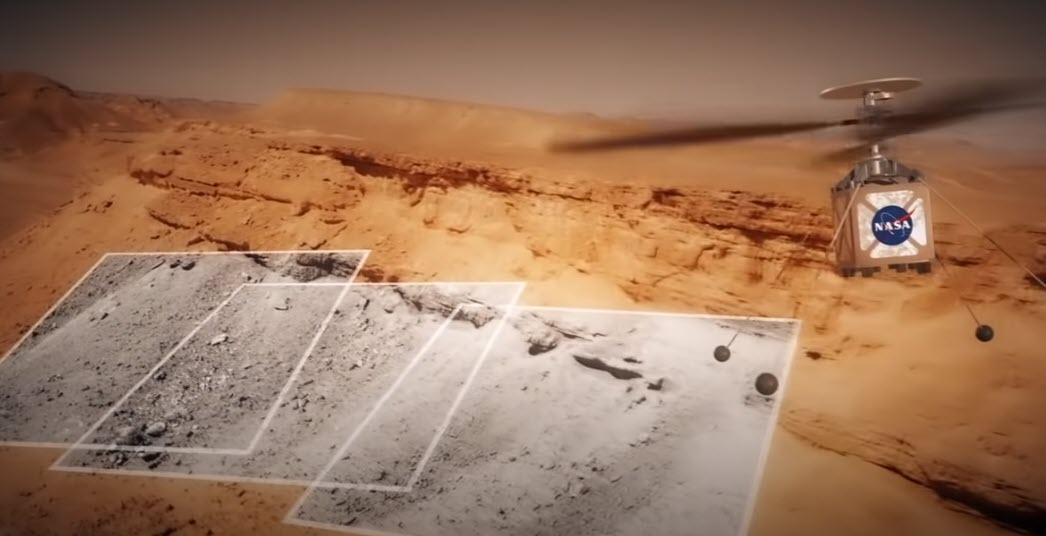 Ingenuity Cattura le foto del suolo di Marte