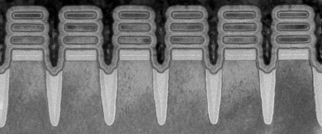 Row di dispositivi nanosheet a 2 nm