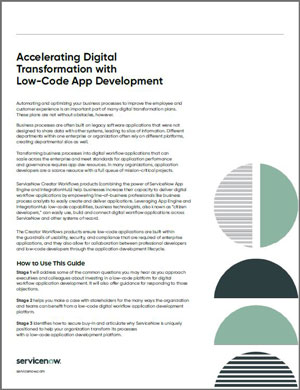 Accelerating Digital Transformation with Low-Code App Development