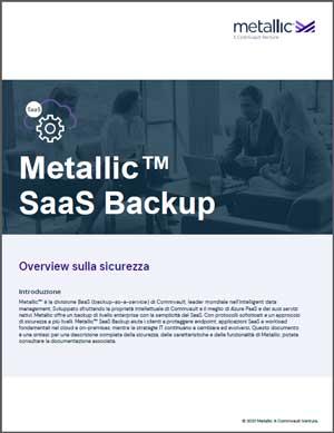 Metallic SaaS Backup