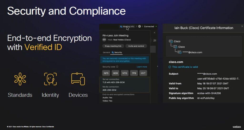 Webex - Encryption End to End e approccio zero trust