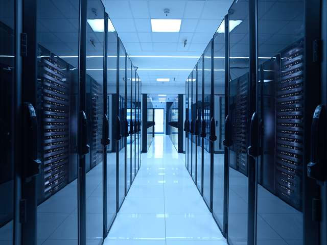 Una stanza server Aruba in uno dei data center dell'azienda