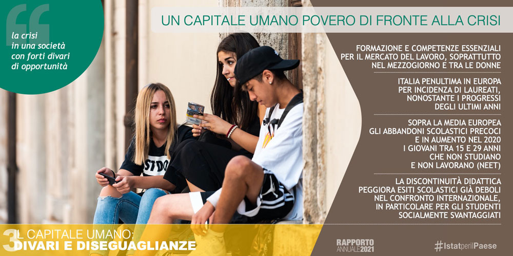 Il capitale umano: divari e diseguaglianze - Fonte: Istat