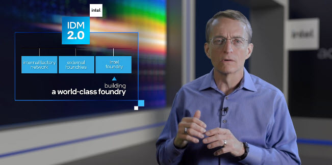 Pat Gelsinger, Ceo Intel, illustra la strategia Idm 2.0