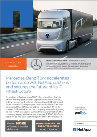 Whitepaper: Mercedes-Benz Türk accelerates performance with NetApp solutions
