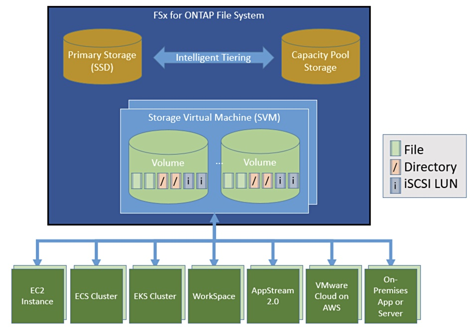 FSx for ONTAP Diagram