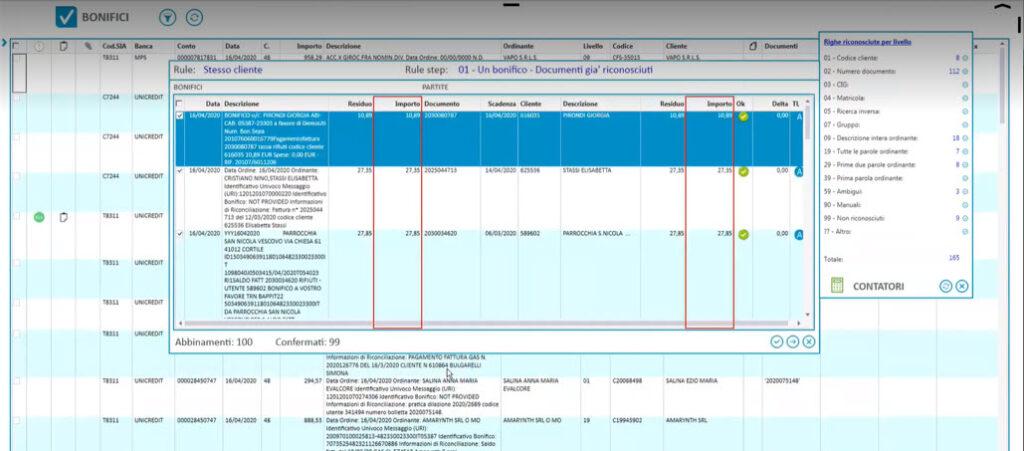 Una schermata della soluzione Piteco IDM in azione
