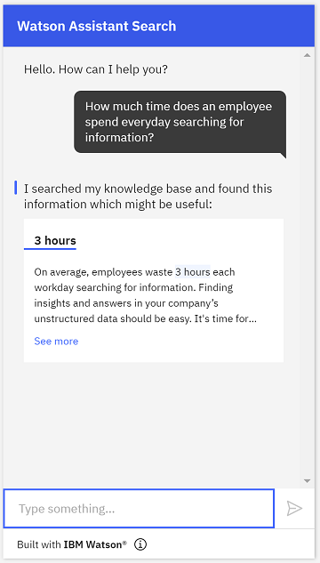 Watson Assistant Search Skill